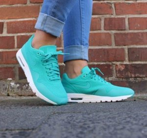 Nike Air Max 1 Ultra Moire Türkis Turkis Größe 40,5 Blogger Sneaker ausverkauft