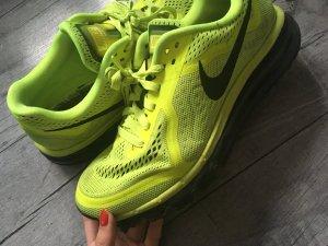 Nike Basket à lacet jaune fluo-noir