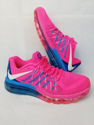 Nike Basket à lacet rose-bleu