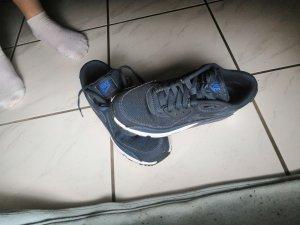 Nike Basket à lacet bleu-blanc