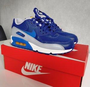 Nike Air Max 90 GS Sneaker Turnschuhe Damen Kinder Bleu Royal 5.5Y EUR 38 NEU!!!