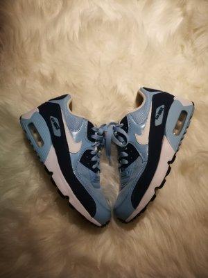 nike air max 90 in blau/weiß