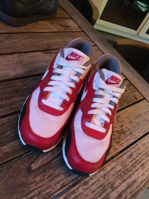 Nike AIR MAX 90 rot, weiß, schwarz, grau