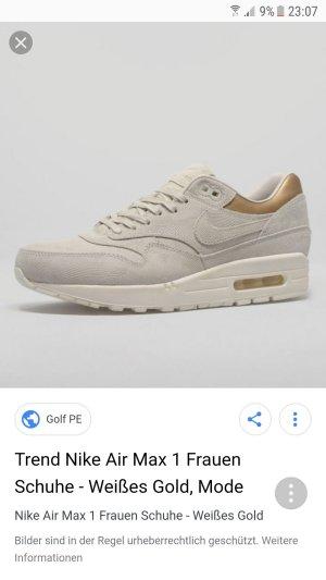 Nike Air Max Beige/Gold/Weiß