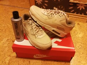 Nike Sneakers pale yellow-oatmeal leather