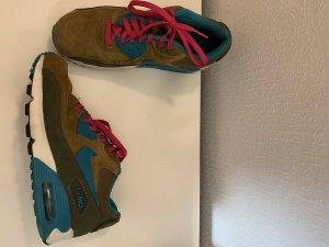 Nike Zapatilla brogue rosa-verde oscuro
