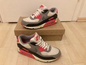 Nike Air Max Infrared 40,5 Top mit Karton Sneaker Weiß Grau Pink Schwarz