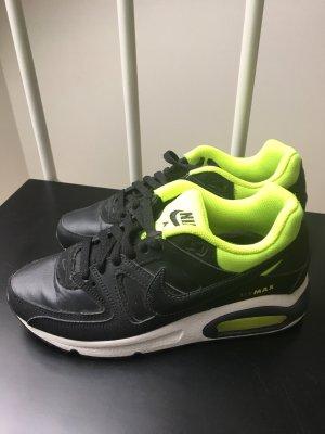 Nike Air Max Schwarzes Leder / neongelb Größe 38