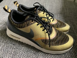 Nike Lace-Up Sneaker black-gold-colored