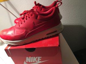 Nike Sneaker stringata rosso Pelle