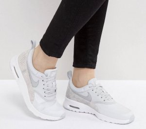Nike Sneaker stringata argento-bianco