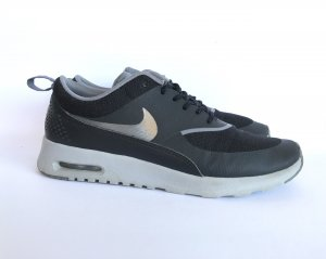 Nike Zapatilla brogue negro-gris Material sintético