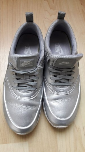 Nike Lace-Up Sneaker silver-colored-white imitation leather