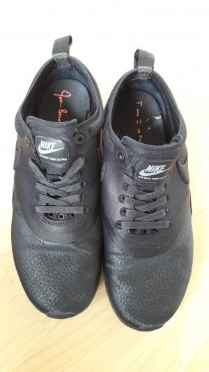 Nike Lace-Up Sneaker black mixture fibre