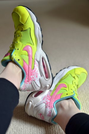 NIKE AIR MAX Triax 94 Neonfarben 38,5 Pink Gelb bequeme Sneaker limited Edition