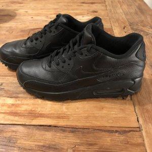 Nike Sneakers met veters zwart Leer