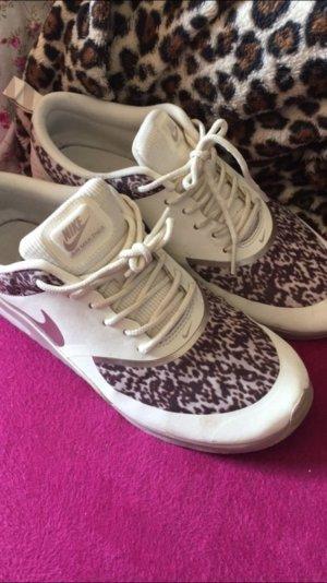 Nike Airmax Thea in weiß, beige, braun mit Print 38,5