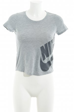 Nike Basic Top grau-hellgrau meliert Casual-Look