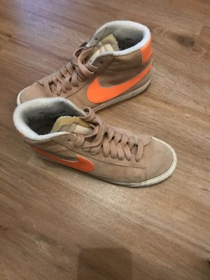 Nike Sneakers beige-neon orange