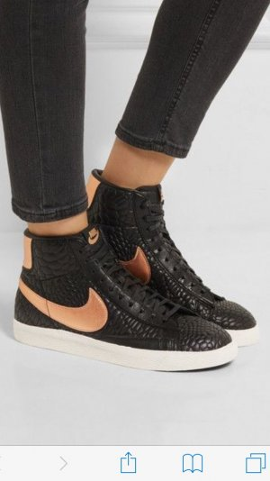 Nike Blazer Croco Effect Schuhe Bronze Schwarz