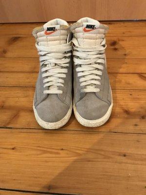 Nike High Top Sneaker white-light grey