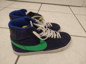 Nike Sneaker alta blu scuro-verde