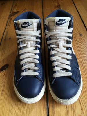 Nike Blazer High Top Sneaker weiß blau