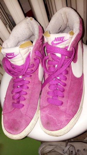 Nike High Top Sneaker pink-white