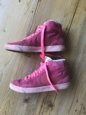 Nike Zapatillas altas rosa-rosa neón