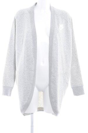 Nike Cardigan hellgrau-weiß Schriftzug gedruckt Casual-Look
