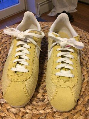 Nike Classic Cortez Textile, gelb-pink, Größe 40