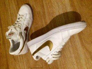 Nike Classic Sneaker Schuhe  Weiß/Gold Metallic 312498-171 Gr.39