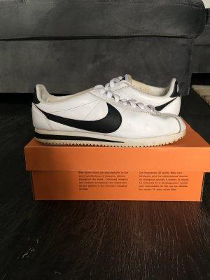 Nike Sneaker stringata bianco-nero Pelle
