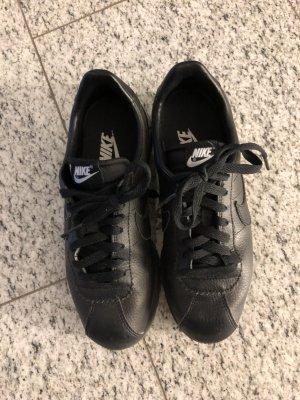 Nike cortez Sneaker schwarz Leder