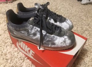 Nike Lace-Up Sneaker silver-colored-grey