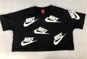 Nike Cropped Shirt black-white