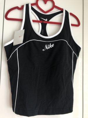 Nike Damen Sport Top mit Bra schwarz weiß XL Neu mit Etikett