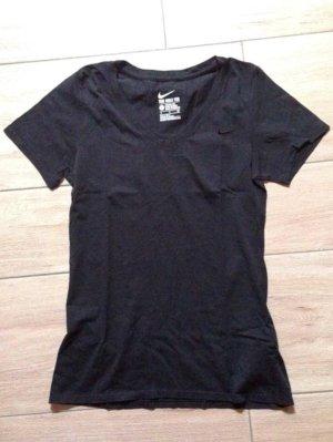 Nike Damen T-Shirt V-Ausschnitt Größe S schwarz