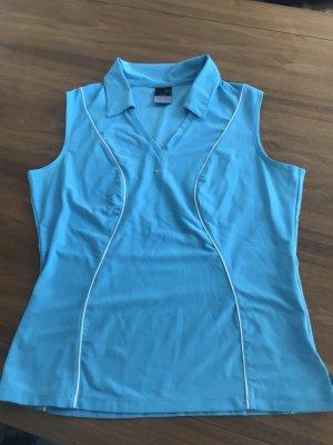 Nike dri-fit ärmellos mit Kragen hellblau Gr. 40/42