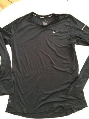 Nike Dri-Fit Laufshirt Langarm Sporttop schwarz Grösse L