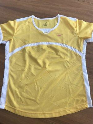 Nike Maglietta sport giallo-bianco