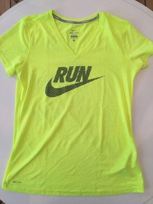 Nike Dri-Fit T-Shirt Neon Gelb Grösse M Sport