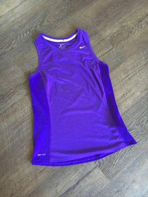 Nike DRI Fit Top, lila, Größe S