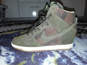 Nike Dunk Sky Hi khaki camouflage Wildleder Turnschuhe Schuhe Größe 39
