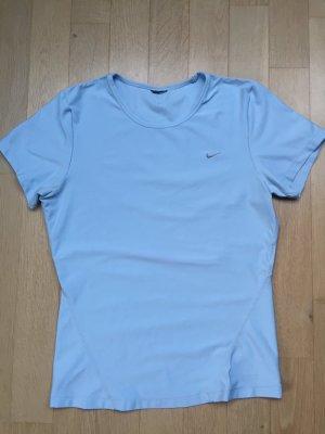 Nike Fitness Shirt Kurzarm hellblau Gr. S Rundhald