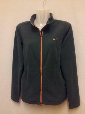 Nike Fleece Jackets anthracite-orange polyester