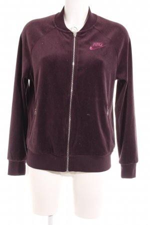 Nike Fleece Jackets white-blackberry-red casual look