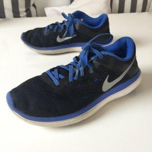 Nike Flex 2016 Run Gr. 36.5 schwarz blau Laufschuhe Sportschuhe