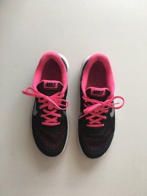 Nike flex experience rn4 38 Stoff schwarz pink leicht Sneaker Turnschuhe Schnürschuhe
