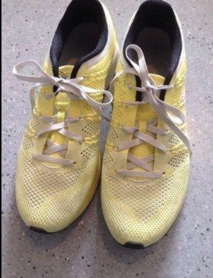 Nike Flyknit Lunar Sneaker gelb Gr. 40/39